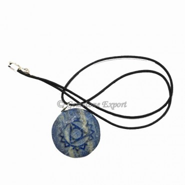 Lapis Chakra Pendants polished Symbol