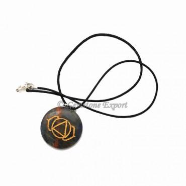 Sodalite Chakra Symbol Pendants