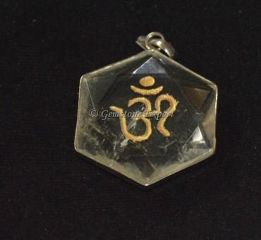 Pentagram Crystal Om Pendants