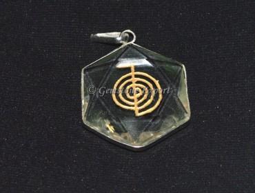 Pentagram Choko Reiki Crystal Pendants