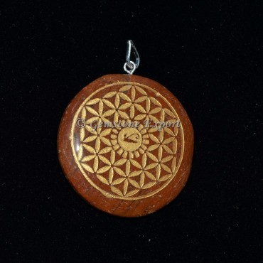 Red Jasper Flower of life Pendants