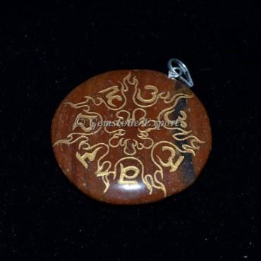 Chakra Sanskrit Disc Pendants