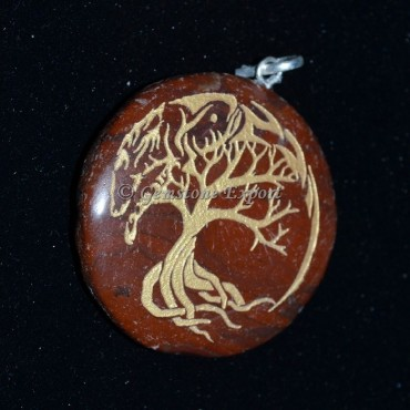 Tree of life Jasper Pendants