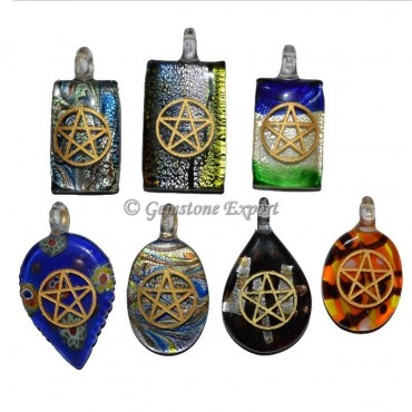 Mix Glass Reiki Pendants