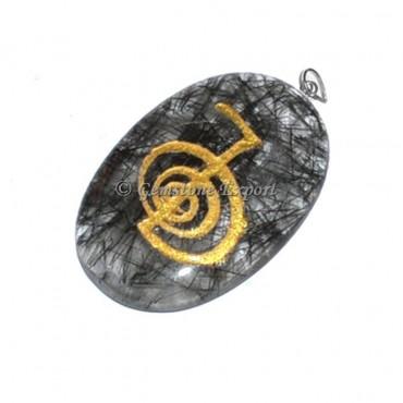Black Rutile Choko Reiki Pendants
