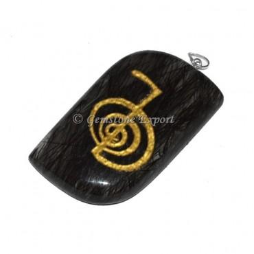 Black Rutile Reiki Pendants