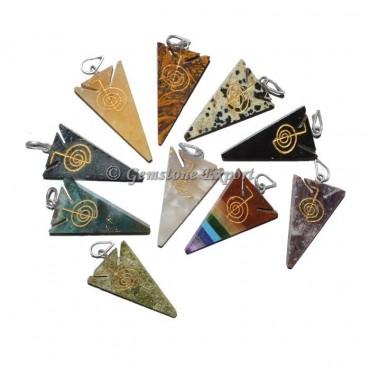 Arrowheads pendants Engraved Stones
