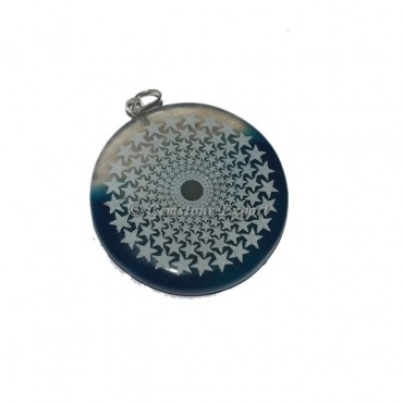 Star Disc Engraved Pendants