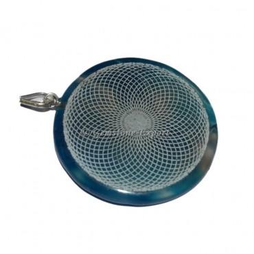 Engraved Disc Pendants