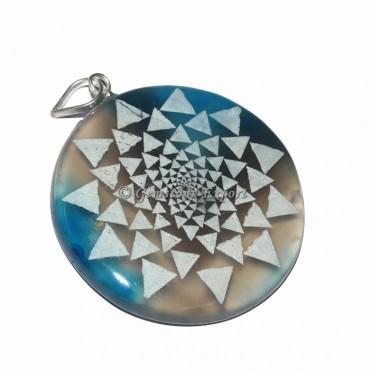 Triangle Design Disc Pendants