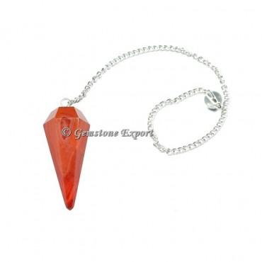 Red Carnelian Faceted Pendulum