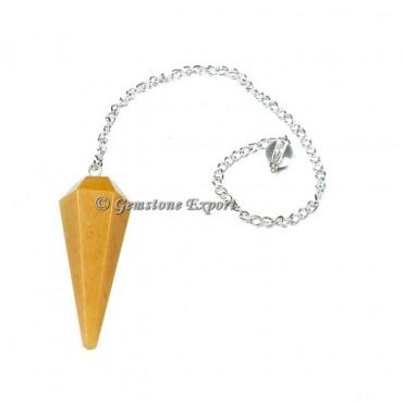 Yellow Aventurine Faceted Pendulum