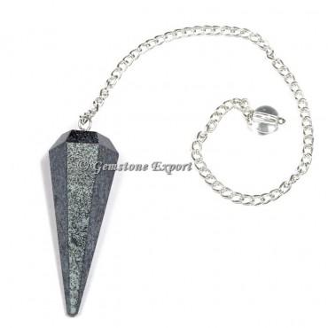 Hematite Faceted Pendulum