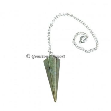 Labradorite Faceted Pendulum