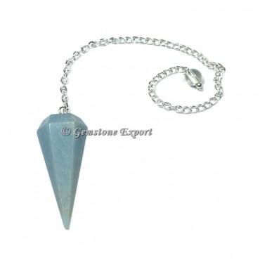 Angelite Faceted Pendulum