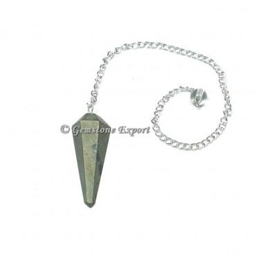 Pyrite Faceted Pendulum