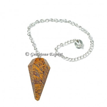 Snake Jasper  Faceted Pendulum