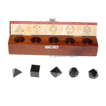 Black Agate Geometry Set