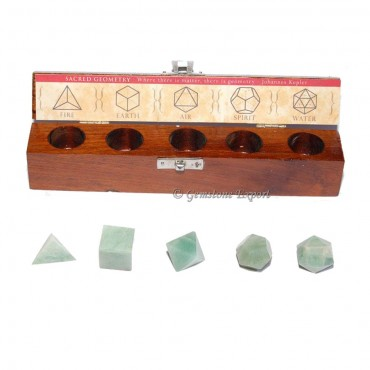 Green Aventruine Geometry Set
