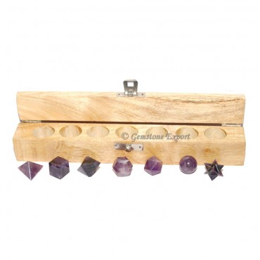 Amethyst 7 Stone Geometry Set