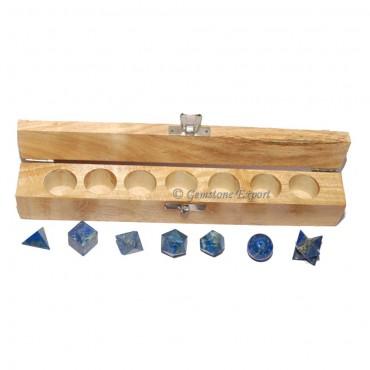Lapis Lazuli 7 Stones  Geometry Set