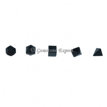 Black Tourmaline Sacred Geometry Set