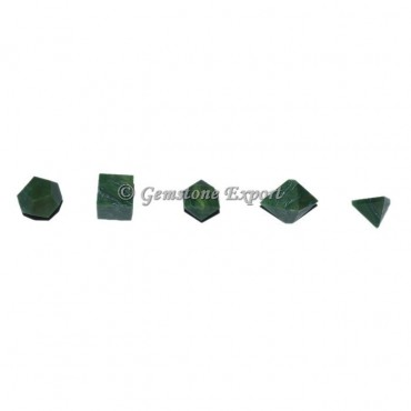 Green Aventurine Sacred Geometry Set