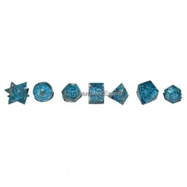 Orgone Turquoise Sacred Geometry Set