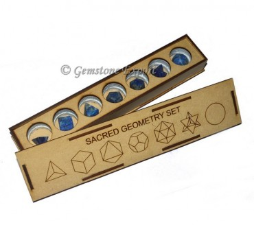 Lapis Lazuli Sacred Geometry Set With Long Box