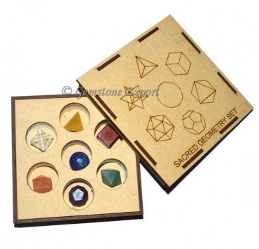 7 Chakra Sacred Geometry Set With Square Gift Box