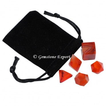Carnelian With Black Pouch
