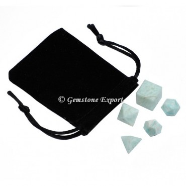 Amazonite 5 pcs With Black Pouch