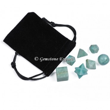 Amazonite 7 pcs With Black Pouch