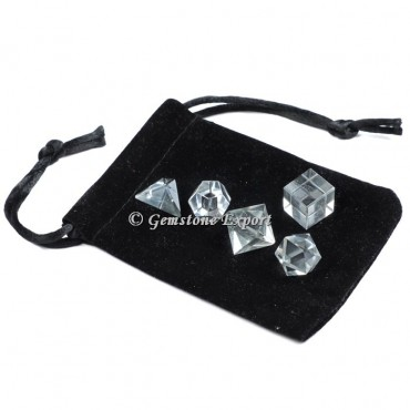Crystal With Black Pouch
