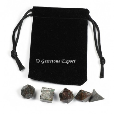 Indian Garnet With Black Pouch