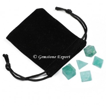 Green Fluorite With Black Pouch