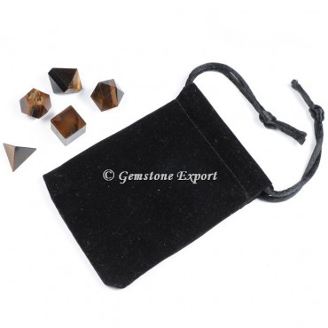 Tiger eye With Black Pouch