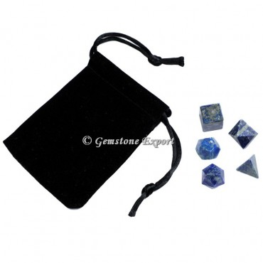 Lapis Lazuli With Black Pouch