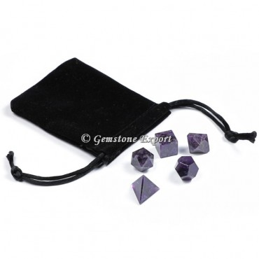Amethyst With Black Pouch