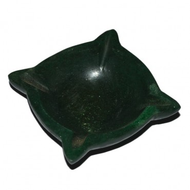 Green Aventurine Carved Bowl