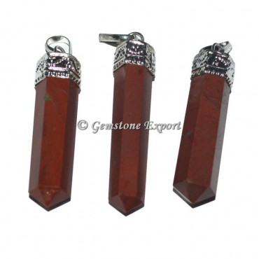 Red Jasper Cap Pencil Pendants