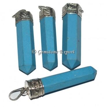 Turquoise Cap Pencil Pendants