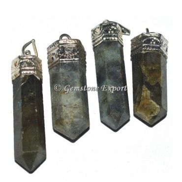 Labradorite Cap Pencil Pendants