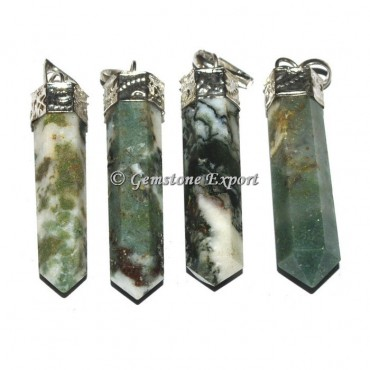 Tree Agate Cap Pencil Pendants