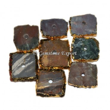 Hammered Agate Square Knob