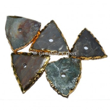 Agate Triangle Knob