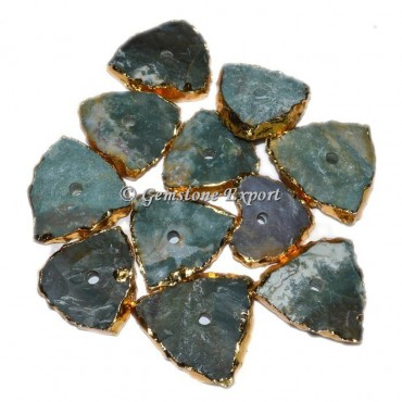 Hammered Agate Triangle Knob
