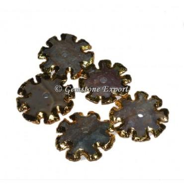 Flower Design Gemstone Arrowheads Knob