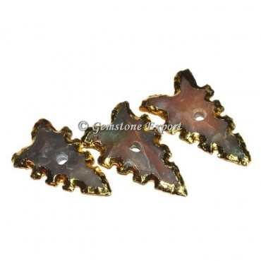 Antique Gemstone Arrowheads Knob