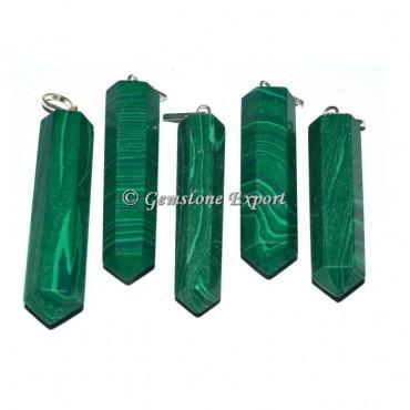 Malachite Pencil Pendants